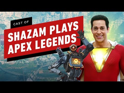 Zachary Levi & Cast of Shazam Play Apex Legends for the First Times