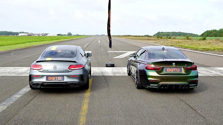 drag race mercedesamg c63s vs bmw m4