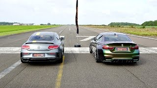 DRAG RACE! MERCEDES-AMG C63S VS BMW M4!