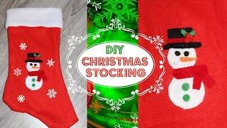 Diy Holiday Decoration & Christmas Gift: Christmas Stocking No Sew