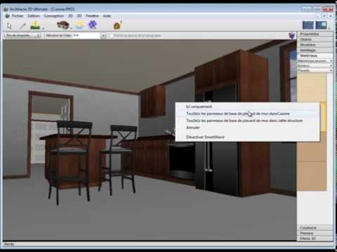 Architecte 3d am nager la cuisine youtube for Architecte 3d avanquest