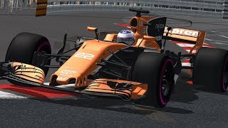 rFactor F1 2017 Button onboard McLaren MCL32 Monaco