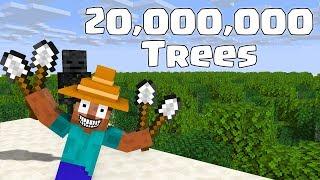 Monster School : PLANTING 20,000,000 MILLION TREES - Minecraft Animation Video