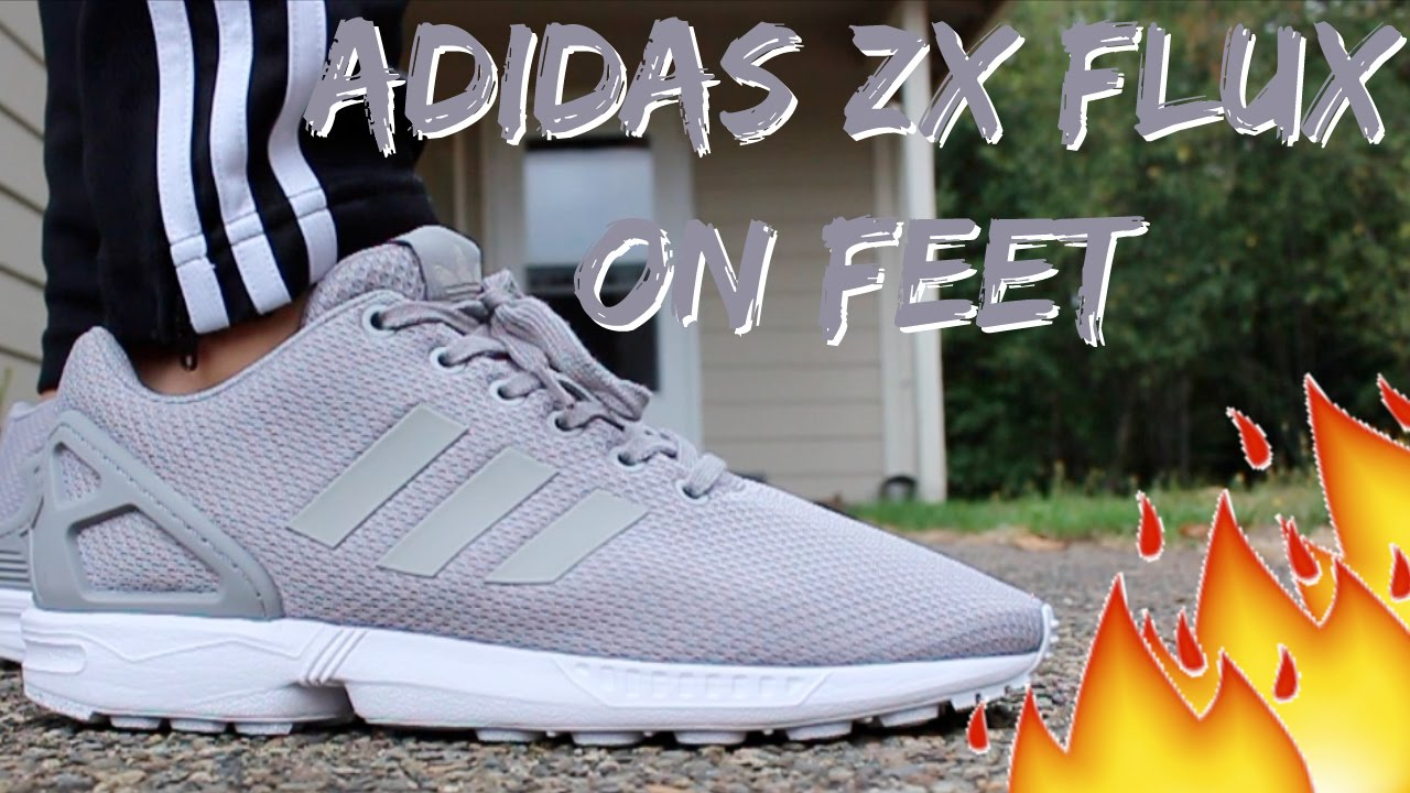 Grey Adidas ZX Flux On Feet Detailed Look HD - YouTube a62223eb8
