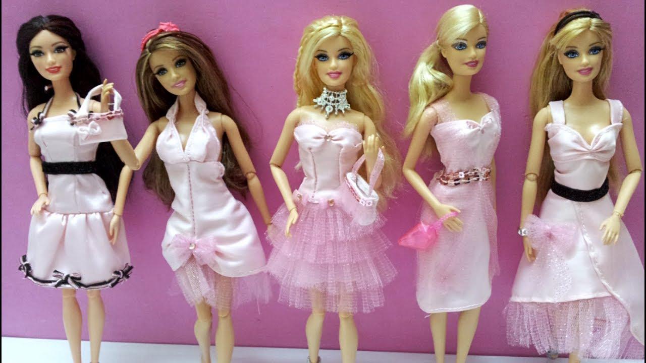 4ccdaeb0c العاب تلبيس بنات ,أزياء باربي , فساتين حفلات Barbie pink dress & Accessories
