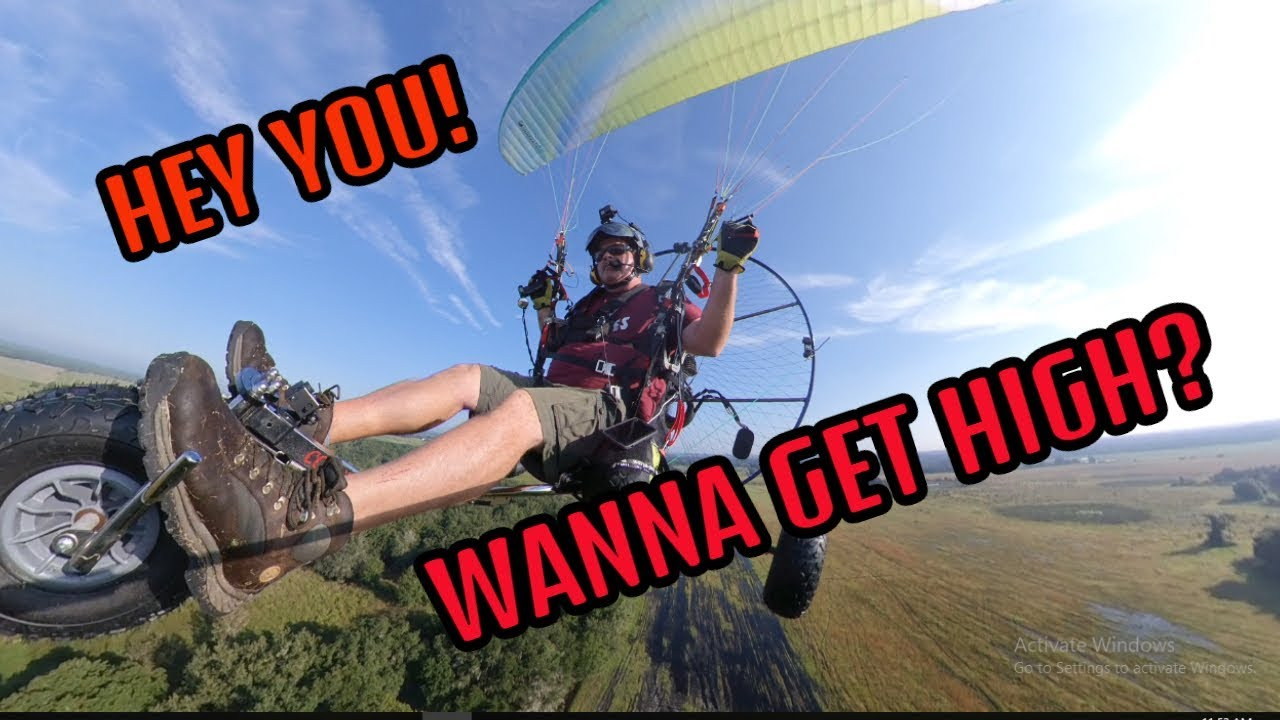 Gettin High on my Paramotor Trike  Now this is LIVING!!