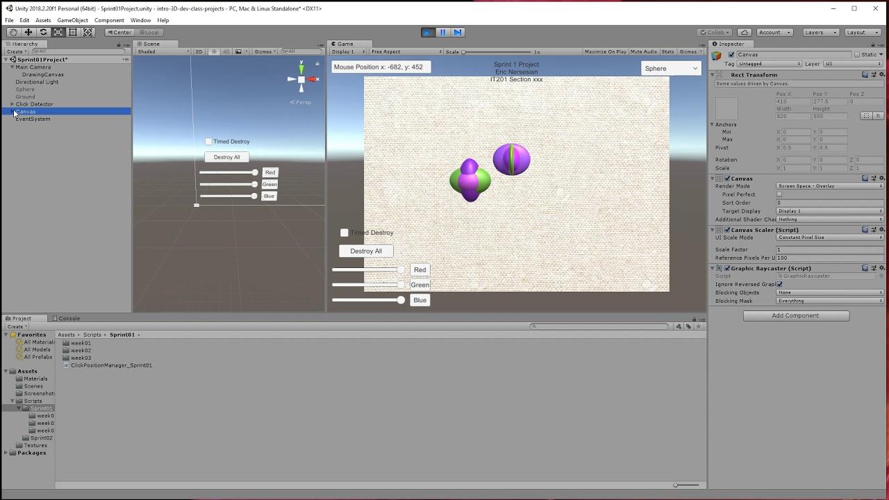HS VR 3D Dev Sprint 1