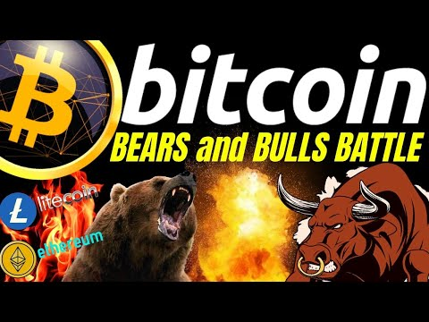 BITCOIN BEARS And BULLS BATTLE, LITECOIN ETHEREUM N DOW Crypto TA Prediction, Analysis, News Trading