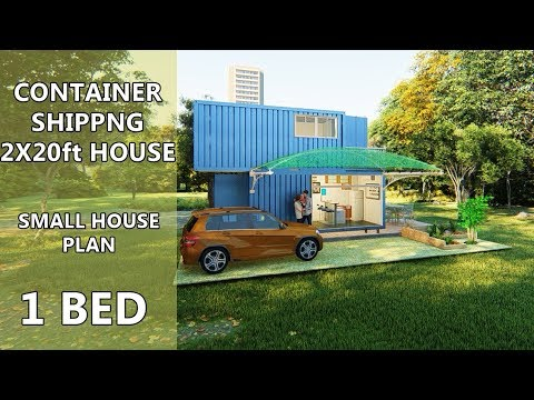 2 Story Shipping Container House 2x20ft Design Ideas
