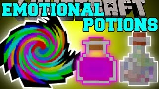 Minecraft: EMOTIONAL POTIONS (POTIONS HAVE FEELINGS TOO!) Mod Showcase