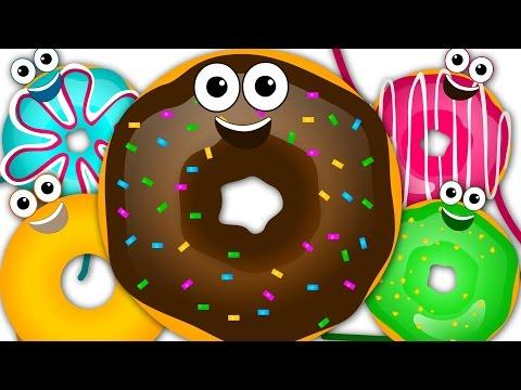 Five Little Donuts | Food Song | Nursery Rhymes | Kids Song | Children Rhymes