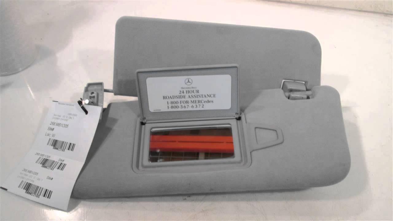 2005 mercedes e500 sun visor lh grey 211type mbiparts for Mercedes benz sun visor replacement