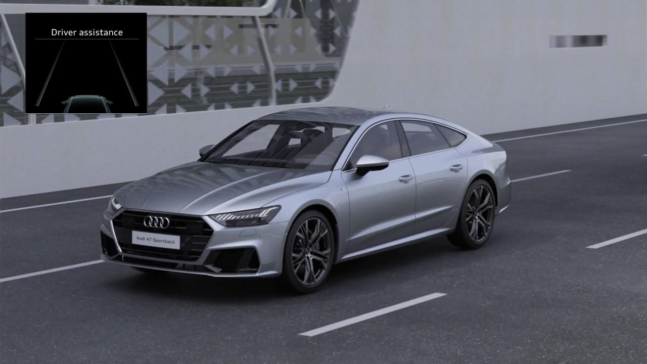 Audi A Animation Narrowed Road Assist YouTube - Audi roadside assistance