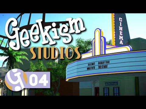 🎬 Cinema Entrance | Geekism Studios | Let's Play Planet Coaster #04