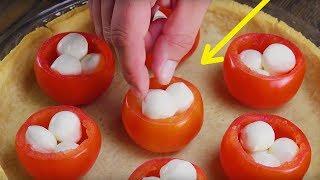 Из этих помидоров буквально выливается море вкуса. Гениально и просто!