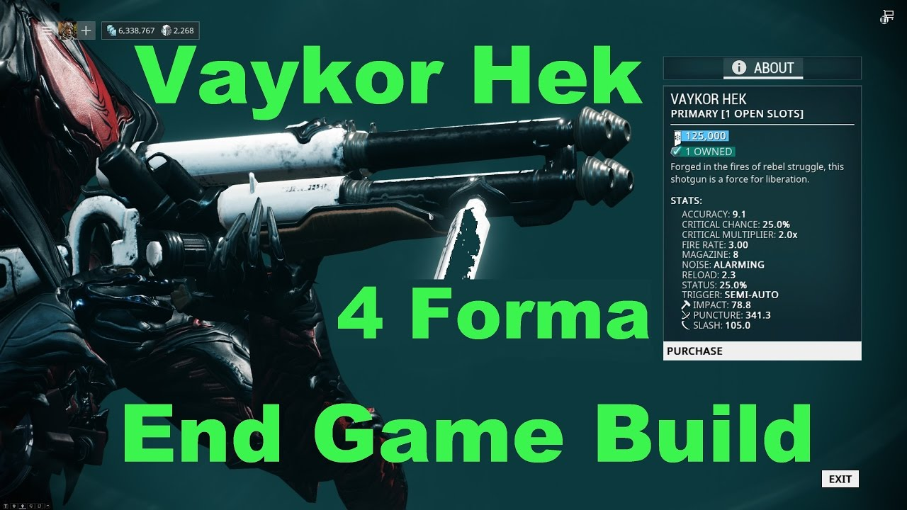 Build Hek Warframe