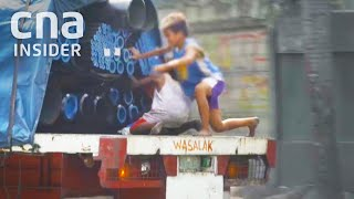Kids Jump On Moving Trucks To Steal To Feed Families