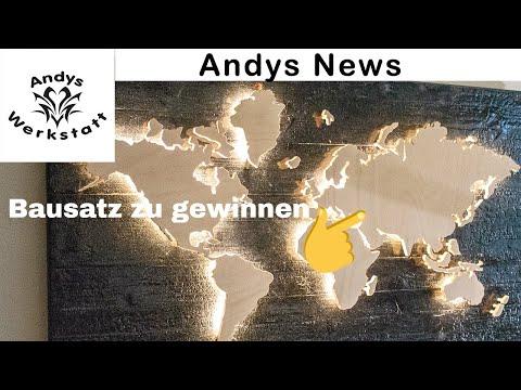Andys News  - Top News, Verlosung Weltkarte von Wintini