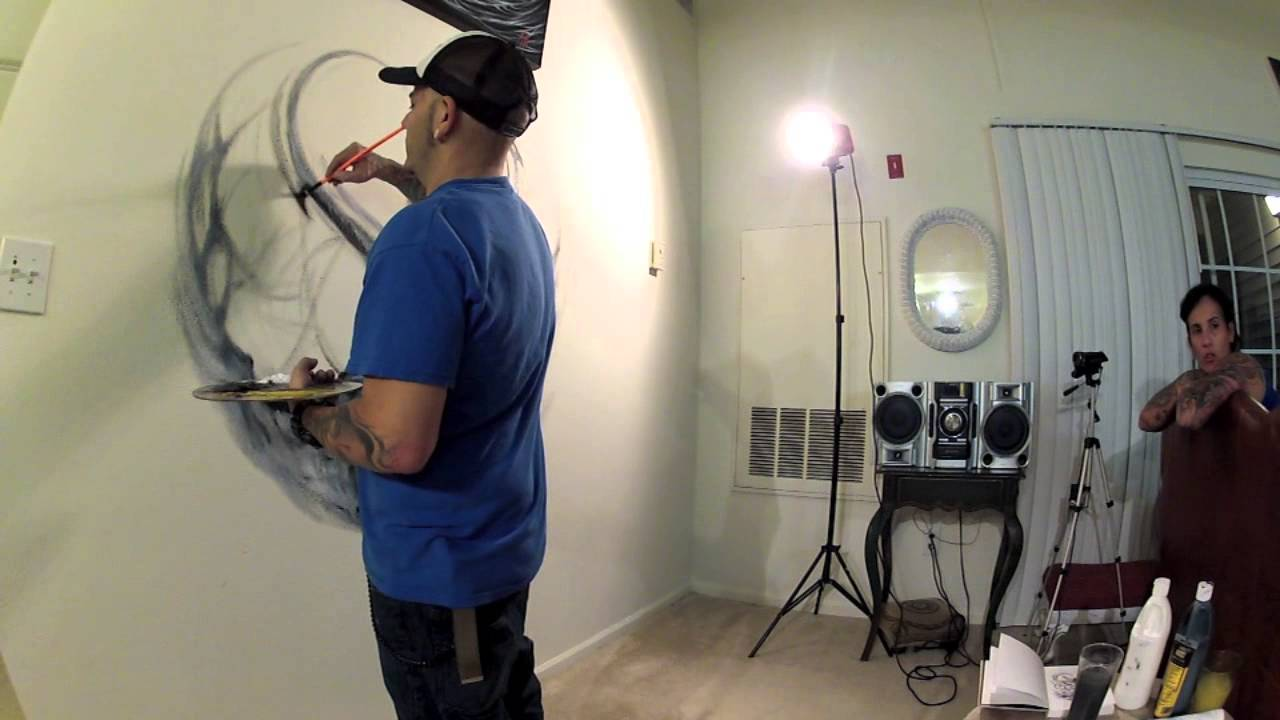 Renowned Tattooer Andres Hurtado Paints Wall Mural With UrbanFX Brushes By  Dynasty   YouTube Part 50