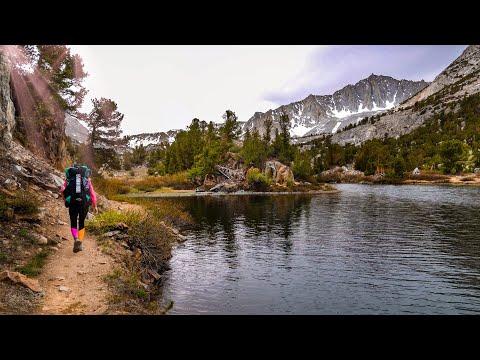 BACKPACKING The EASTERN SIERRA in 4K June 2021 | Bishop Pass Trail | Sierra Nevada Mountains