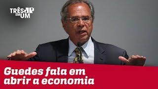 Em posse, Paulo Guedes fala em abrir a economia, simplificar impostos e privatizações