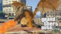 GTA 5: DRACHEN ANGRIFF IN LOS SANTOS | DRAGON MOD