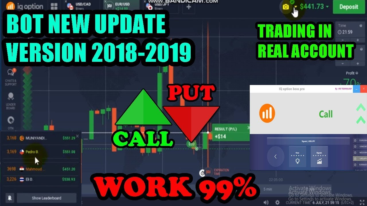 IQ OPTION BOSS PRO ROBOT SIGNALS | TRADING IN REAL ACCOUNT | NEW UPDATE  VERSION 2018-2019