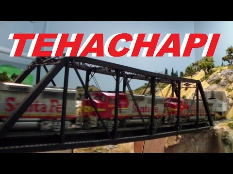 Rich Melconian's HO scale Santa Fe ~ Southern Pacific ~ UP Tehachapi Loop Model Train Layout