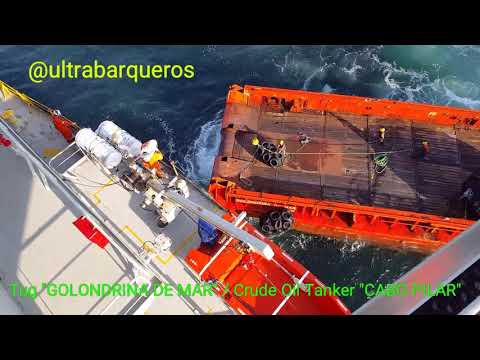 "Offshore Supply Ship ""GOLONDRINA DE MAR"" /Crude Oil Tanker ""CABO PILAR"" / STS TRANSFER OPERATION - 1"
