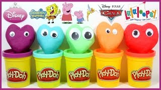 Surprise Play Doh Heart Cake Surprise Toys & Blind Bag Shopkins Lalaloopsy Avengers Disney Cars