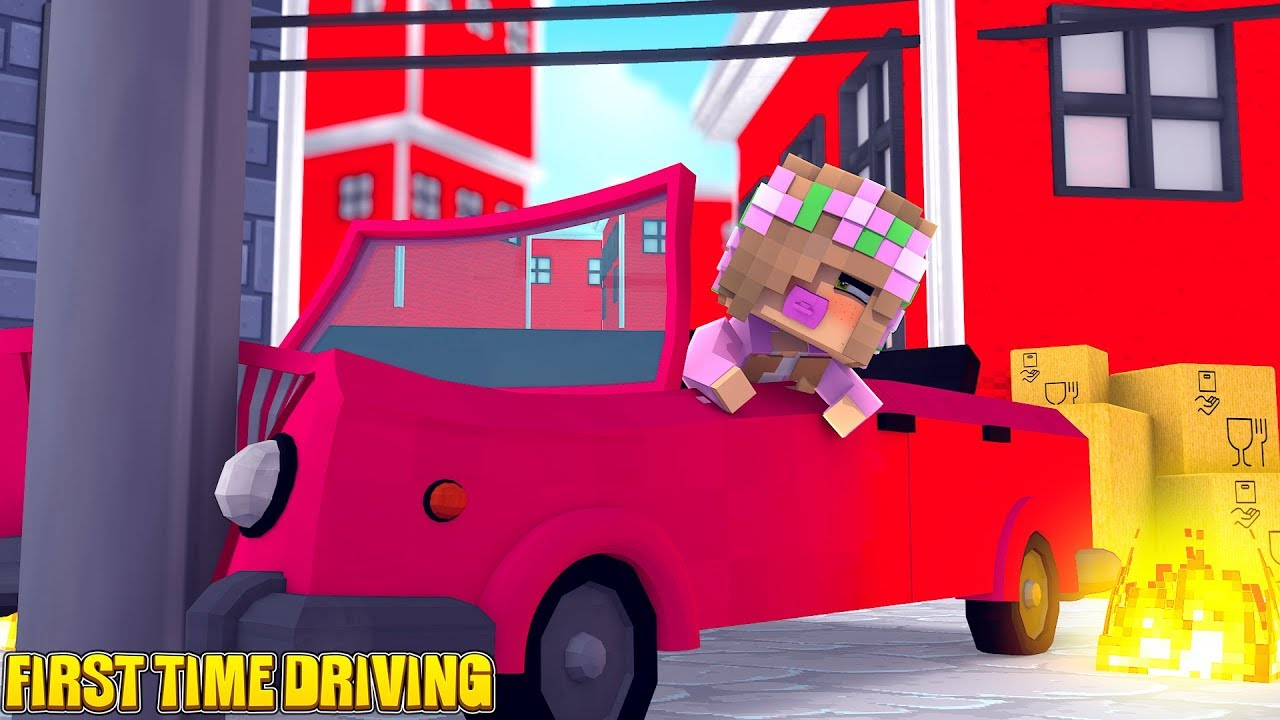 baby-little-kellys-first-time-driving-minecraft-little-kelly