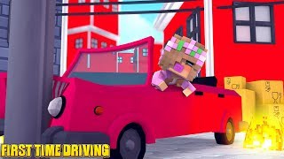BABY LITTLE KELLYS FIRST TIME DRIVING!   Minecraft Little Kelly
