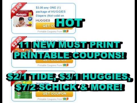 🔥 HOT🔥 NEW PRINTABLE COUPONS, $2/1 TIDE, $3/1 HUGGIES, $7/2 SCHICK & MORE!