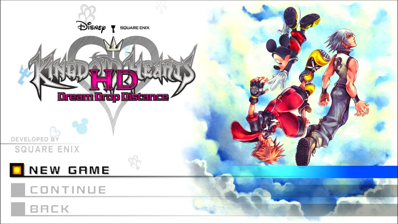 Kingdom Hearts Wallpaper Hd Kingdom Hearts Hd Dream Drop Distance Title Screen Ps4