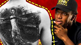 KSI Reacts to Soccer Player's Tattoos