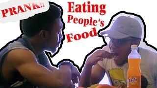 Eating People's Food Prank - Zfancy