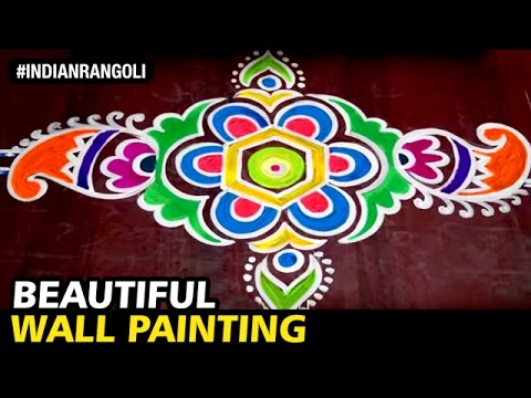 Beautiful Wall Painting On Floor Best Traditional Designs Ever