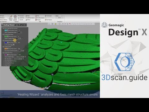 Geomagic Design X Video 1 Mesh 3d Scan Processing Youtube