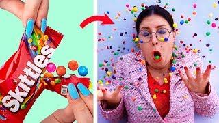 15 пранков и лайфхаков для школы / Как пронести сладости в школу