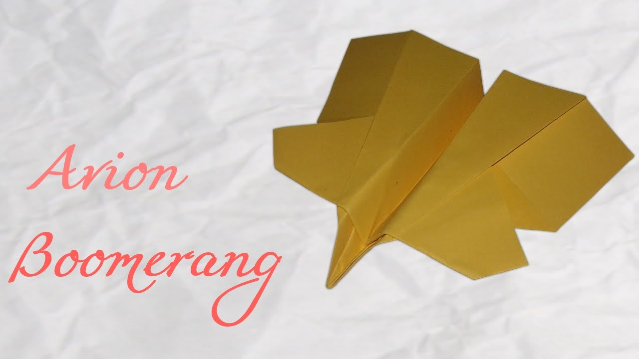 origami mini avion boomerang hd youtube. Black Bedroom Furniture Sets. Home Design Ideas