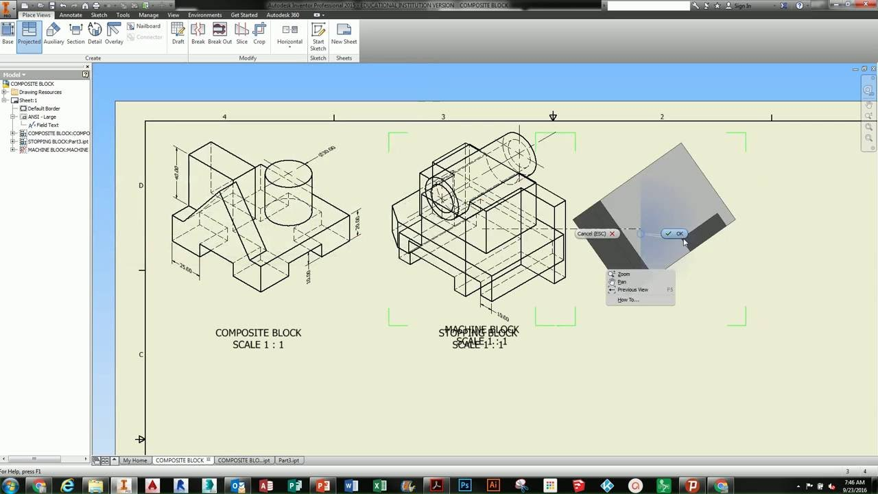 INVENTOR TUTORIAL - DRAWING LAYOUT & PDF SUBMISSION