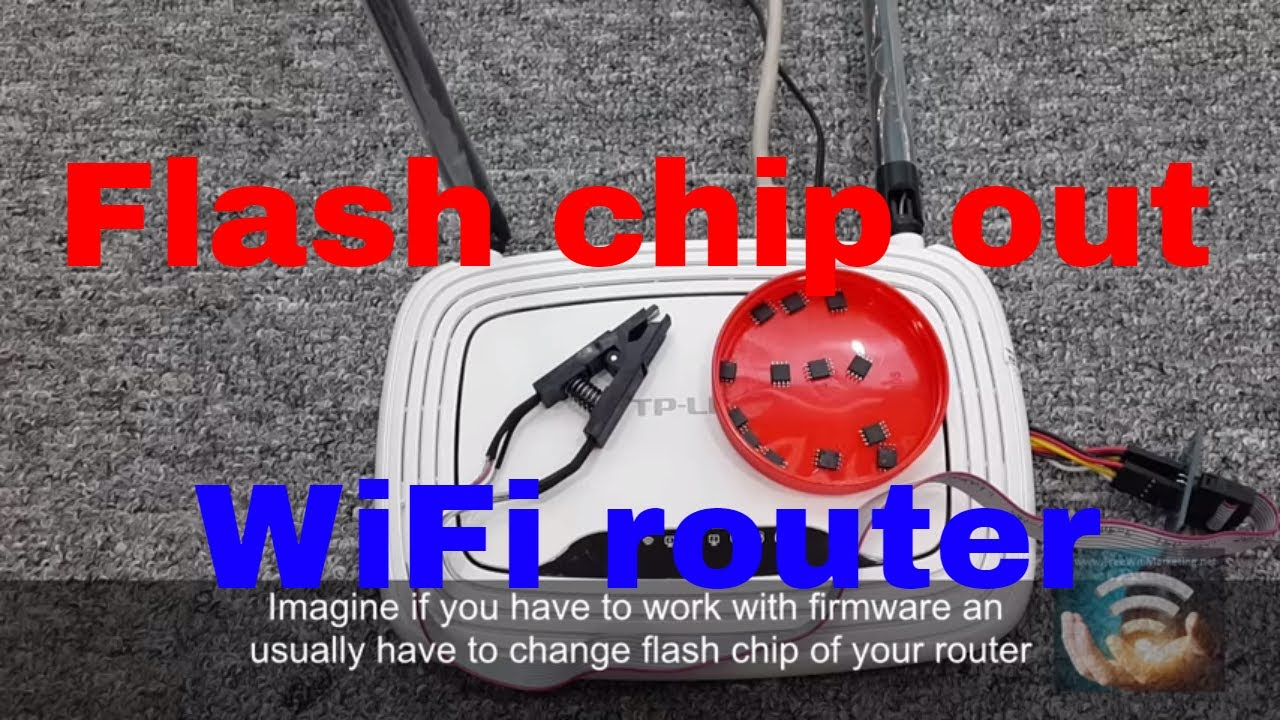 Mod TP-LINK WiFi OpenWrt router to run from external 8M flash chip SOP8 clip