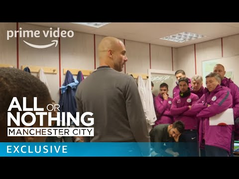 All or Nothing: Manchester City - Inside the changing room | Prime Video