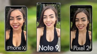 Samsung Galaxy Note 9 Camera vs iPhone X & Google Pixel 2!