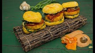 Veganer Kürbis-Grünkohl-Burger | gesund und lecker