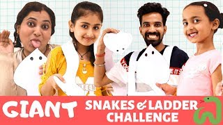 Playing Giant Snakes & Ladder Challenge | Kids Games | Games for Girls | #fun #games #pihugautam