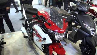 Honda CBR150R Red at the Auto Expo 2012