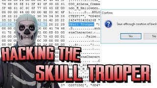 HACKING THE SKULL TROOPER INTO MY INVENTORY Hacking Skins In Fortnite