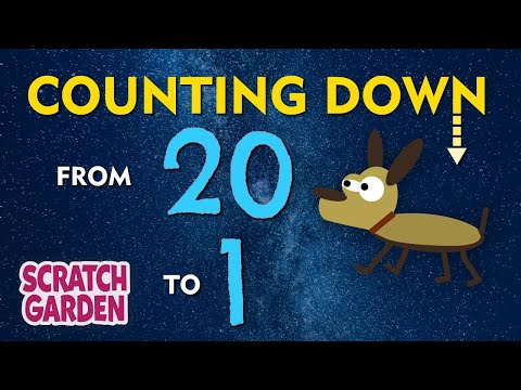 The Counting Down from 20 Song | Scratch Garden