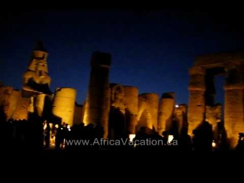Luxor Temple at Night, Luxor Egypt